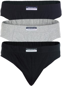Peter England Men's Combo Of Black Grey And Navy Brief Pack Of 3