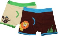 Needybee Baby Boy's Lion And Monkey Ez Undeez Cotton Kids Brief (Pack Of 2)
