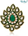 The Pari Green Blooming Brooch - Green