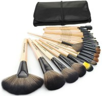Jayhari 24 PCS Professional Makeup Cosmetic Brush Set With Black Lether Case (Pack Of 24)