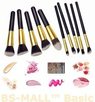 Bs-Mall Premium Synthetic Kabuki Makeup Brush Set (Pack Of 10)