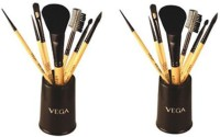 Vega Set Of Seven Make-up Brushes-EVS07 (Pack Of 14)