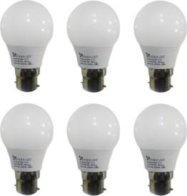 3 W B22 PAG LED Bulb (White, Pack of 6)