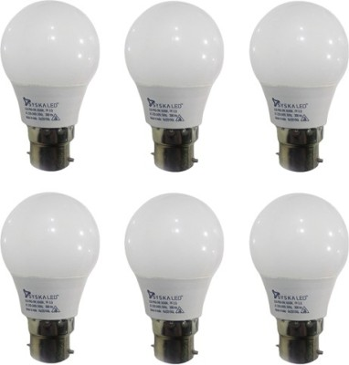 3 W B22 PAG LED Bulb (White, Pack of 6)