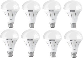 12W ECO LED Bulb (White, Pack of 8)