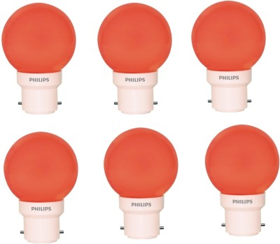 0.5W Deco B22 IND LED Bulb (Red, Pack of 6)