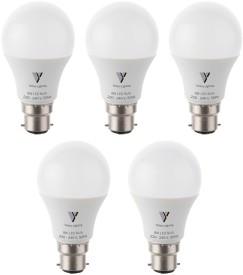 Lighting 9W White LED Bulb(Pack of 5)