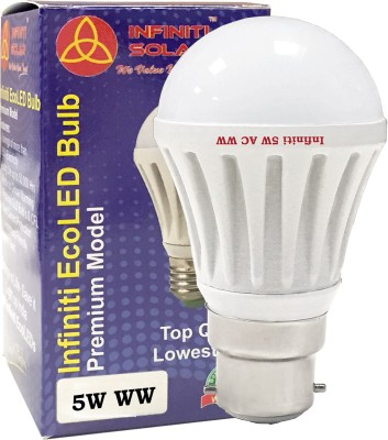 Eco B22 5W LED Bulb (Warm White, Pack of 3)