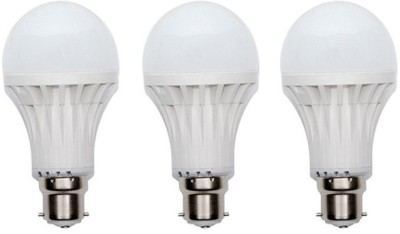 5W Plastic White LED Bulb (Pack Of 3)