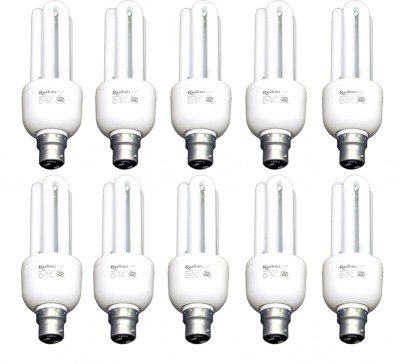20-W-3U-Lamp-B22-Cap-CFL-Bulb-(Cool-Day-Light,-Pack-of-10)