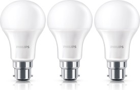 10.5W B22 Steller Bright LED Bulb (White, Pack of 3)