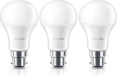 10.5W B22 Steller Bright LED Bulb (White, Pack of 3)