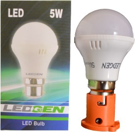 5W White LED Bulb (Pack of 2)