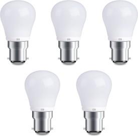 4W B22 Warm White LED Bulb (Pack of 5)