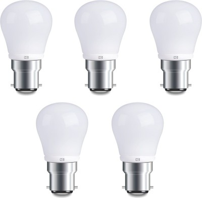 4W B22 Warm White LED Bulb (Pack of 5)