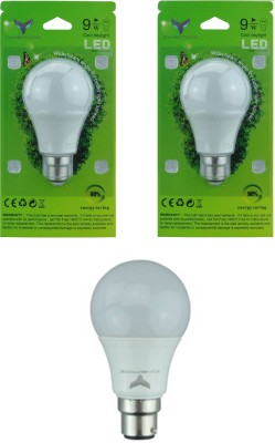 9W LED Bulbs (White, Pack of 2)