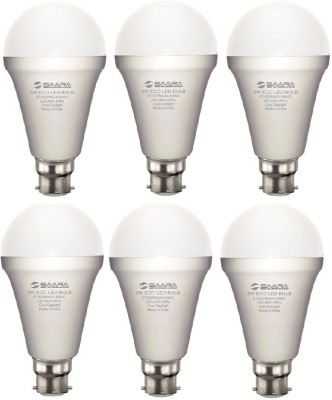 5 W 11026 LED ECO Spiral Bulb B22 Cool White (pack of 6)