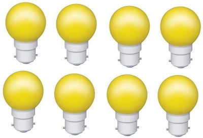 0.5W Yellow LED Bulb (Pack of 8)
