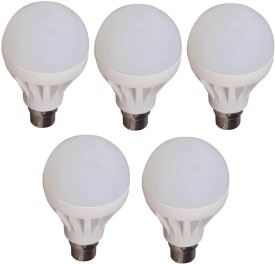 Lister 9W White LED Bulb (Pack of 5)