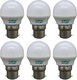 0.5 W LED Mood Night Lamp Bulb Multi color (pack of 6)