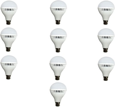 N Safe 7W LED Bulbs (White, Pack of 10)