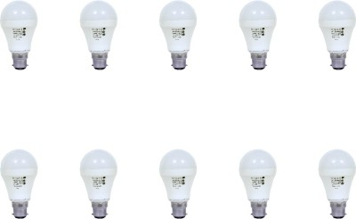 9W Aluminium Body White LED Bulb (Pack of 10)