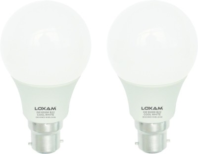 5W B22 LED Bulb (Cool White, Set of 2)