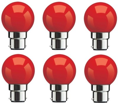 0.5W Red LED Bulbs (Pack Of 6)