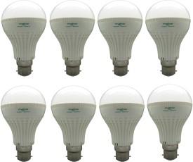 Super Bright 7W LED Bulbs (White, Pack of 8)