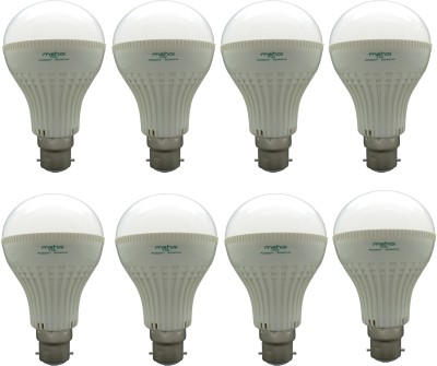 Super Bright 7W LED Bulbs (White, Pack of 8)