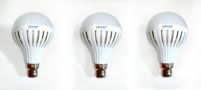 7W B22 LED Light Bulb (Set Of 3)