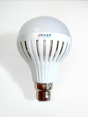 9W B22 Cool White 6500K LED Bulb (Plastic, pack of 3)