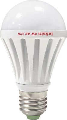 Eco E27 3W LED Bulb (Cool White, Pack of 3)