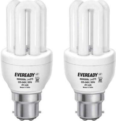 Mini 8 Watt CFL Bulb (White and Pack of 2)