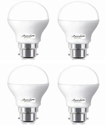 7W B22 LED Bulb (White, Set of 4)