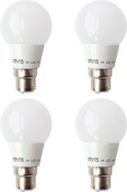 3 W B22 LED Bulb (White, Pack of 4)