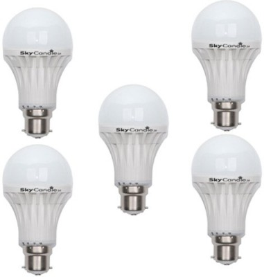 9W B22 LED Bulb (White, Set of 5)
