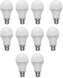 Gold 15W Plastic Body Warm White LED Bulb (Pack Of 10)