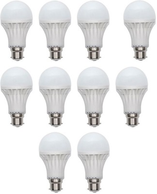 Gold 15W Plastic Body Warm White LED Bulb (Pack Of 10)