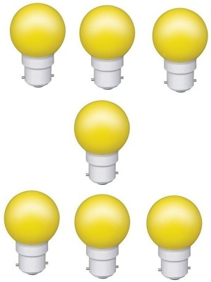 0.5W Yellow LED Bulb (Pack of 7)