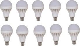 9W LED Bulb (White, Pack of 10)