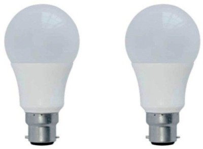 9 W B22 LED Bulb (White, Pack of 2)