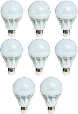 7W Luminent White LED Bulb (Pack of 8)
