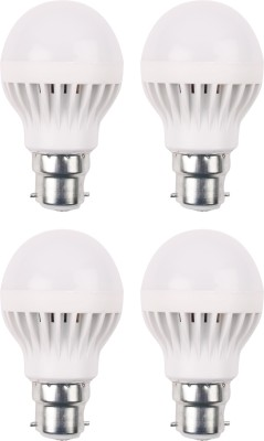 3W 460 Lumens White Eco LED Bulbs (Pack Of 4)