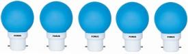 0.5W FLZB22PL LED Bulb (Blue, Pack of 5)