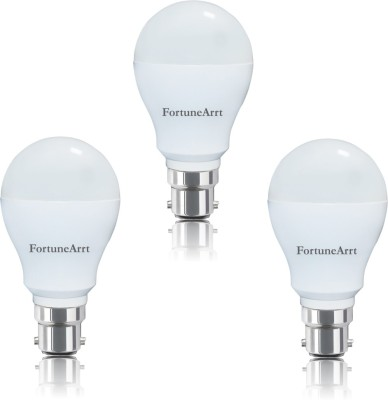 FortuneArrt-7W-B22-LED-Bulb-(White,-Pack-of-3)