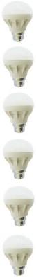 5 W B22 LED Bulb (White, Pack of 6)