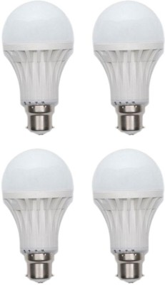 12W Plastic 450 Lumens White LED Bulb (Pack Of 4)