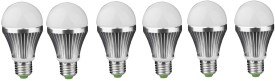IPP 3W E27 Aluminium Body White LED Bulb (Pack of 6)
