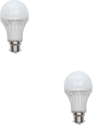 Gold-15W-Plastic-Body-Warm-White-LED-Bulb-(Pack-Of-2)